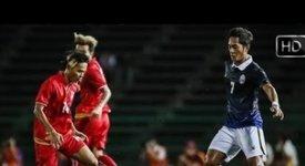 ไฮไลท์ฟุตบอล กัมพูชา 1-2 เมียนมา