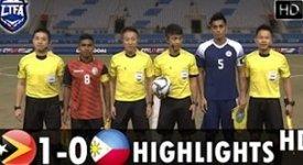 ไฮไลท์ฟุตบอล ติมอร์ตะวันออก 1-0 ฟิลิปปินส์