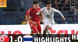 ไฮไลท์ฟุตบอล เกาหลีเหนือ 1-0 ไทย