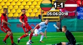 ไฮไลท์ฟุตบอล ลิทัวเนีย 1-1 ลัตเวีย