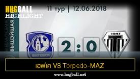 ไฮไลท์ฟุตบอล เอฟเค วิเท็บส์ค 2-0 Torpedo-MAZ Minsk