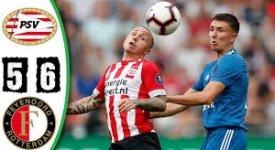 ไฮไลท์ฟุตบอล  พีเอสวี ไอนด์โฮเฟ่น 0-0 (Pen 5-6) เฟเยนูร์ด ร็อตเธอร์ดัม