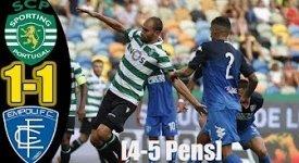 ไฮไลท์ฟุตบอล สปอร์ติ้ง ลิสบอน 1-1 (Pen4-5) เอ็มโปลี (กระชับมิตรสโมสร)