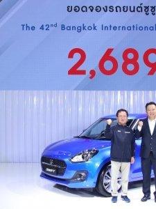 SUZUKI SWIFT ใหม่ ตอบรับดี กวาดยอดจอง Motor Show รวมทุกรุ่นทะลุเป้า 2,689 คัน